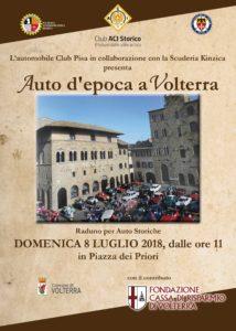 Auto d'epoca a Volterra: 8 luglio 2018